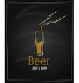 beer glass chalkboard menu background vector image