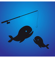 fishing - two fish eps10 vector image