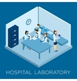Hospital Laboratory Concept vector image