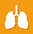 Icon of human lungs Flat style vector image