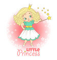 little girl with crown vector image