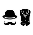 set of items of a gentleman vector image