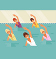 synchronized swimming water aerobics vector image