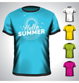 t-shirt design set with summer holiday vector image