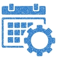 Schedule Options Grainy Texture Icon vector image