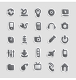Sticker icons for technology vector image