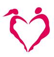 Heart of women and men vector image vector image