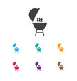 of travel symbol on barbecue vector image