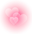 Light Valentines background vector image vector image