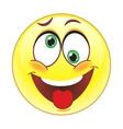 crazy smile vector image