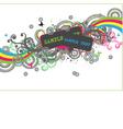 disco design vector image vector image