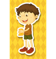 Boy cleaning vector image vector image