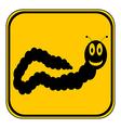 Earthworm button vector image