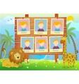 Yearbook for kindergarten with animals vector image