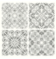 Set of seamless pattern in retro style vector image