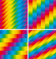 Four seamless patterns set vector image vector image