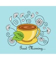 Good morning and tea vector image vector image