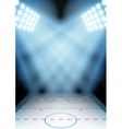 Background for posters night ice hockey stadium in vector image
