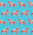 Dala horse pattern vector image