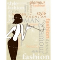 fashion poster vector image