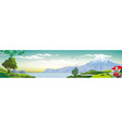 realistic view of nature vector image