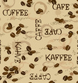 Seamless pattern of coffee beans vector image
