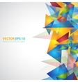 Triangles pattern background vector image