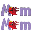 letter M monster vector image vector image