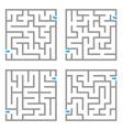 Set of mazes vector image