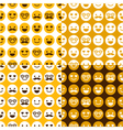 set of seamless pattern of happy smileys vector image