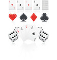 playing cards with dices vector image vector image