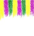 Mardi Gras pastel crayon background vector image