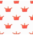 Seamless watercolor pattern with orange crowns vector image
