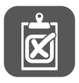 The checklist icon Clipboard and failed task vector image vector image