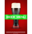 Beer menu poster or cover vector image