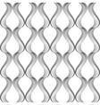 Design seamless monochrome twisting pattern vector image