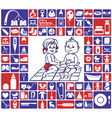 icons baby items vector image