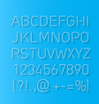 Font thin lines with shadow vector image vector image