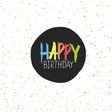 Happy Birthday Lettering On Holidays Chaotic Dots vector image vector image