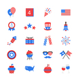 Independence Day Flat Color Icons vector image
