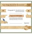 Crumpled Paper Design Elements For Documentation vector image