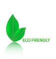 eco friendly website icon vector image