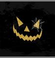 halloween scary face glitter art concept design vector image