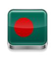 Metal icon of Bangladesh vector image