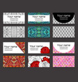 Set of different horizontal business cards vector image