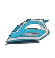 Symbol iron Icon for web site Line art color vector image