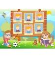 Yearbook for kindergarten with kids vector image