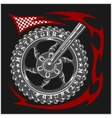 Moto Logo Symbol inside wheel and tribal vector image vector image