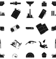 Oil industry pattern icons in black style Big vector image