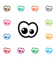 Isolated view icon eyeball element can be vector image